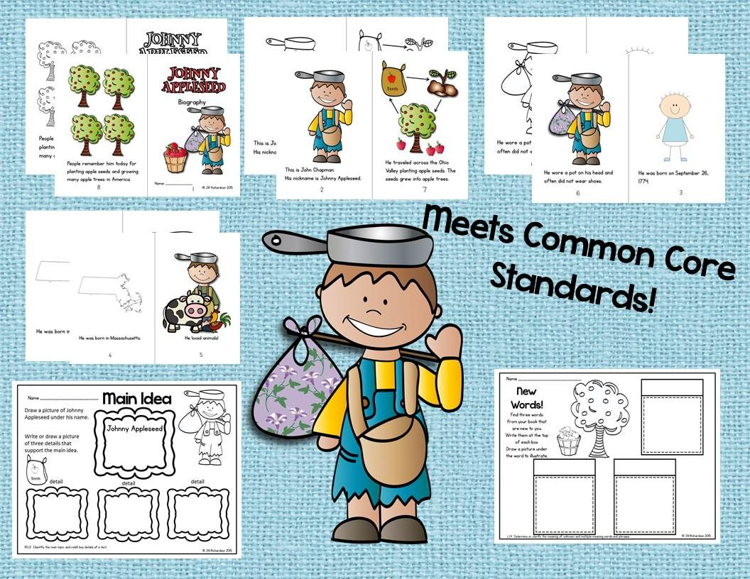 Johnny Appleseed Emergent Reader Johnny Appleseed