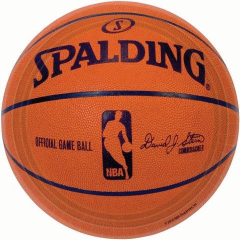 Spalding Basketball 7 Paper Plates 18ct Sports Themed Party Basketball Party Basketball