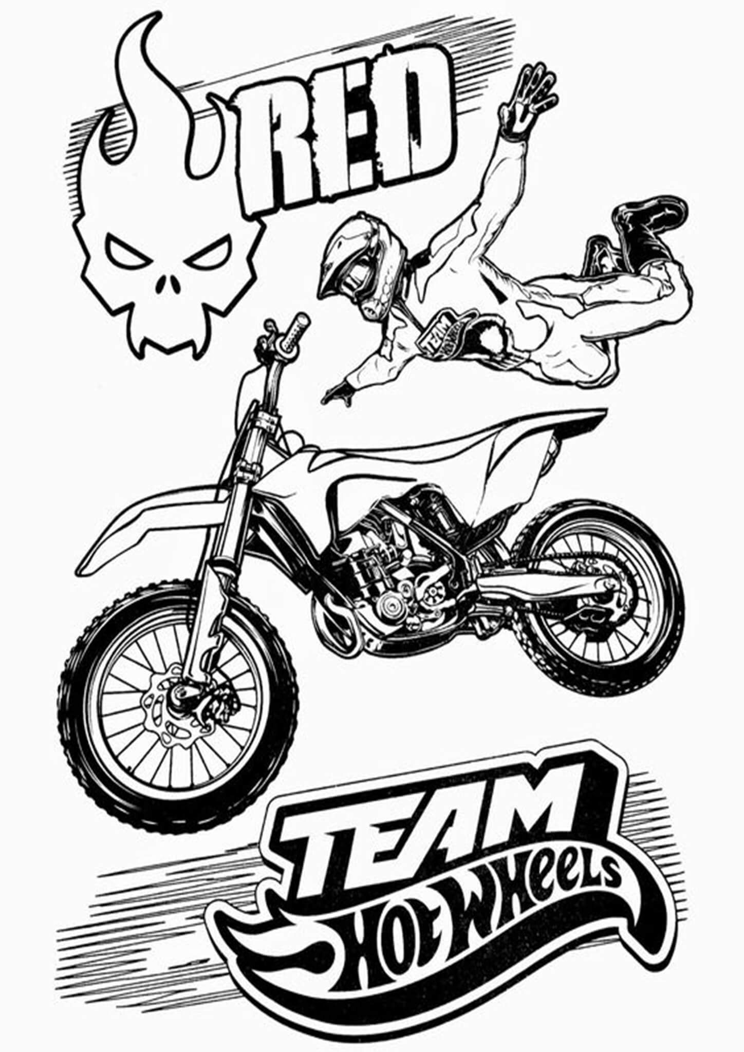 Free Easy To Print Motorcycle Coloring Pages In 2021 Hot Wheels Coloring Pages Inspirational Cool Coloring Pages