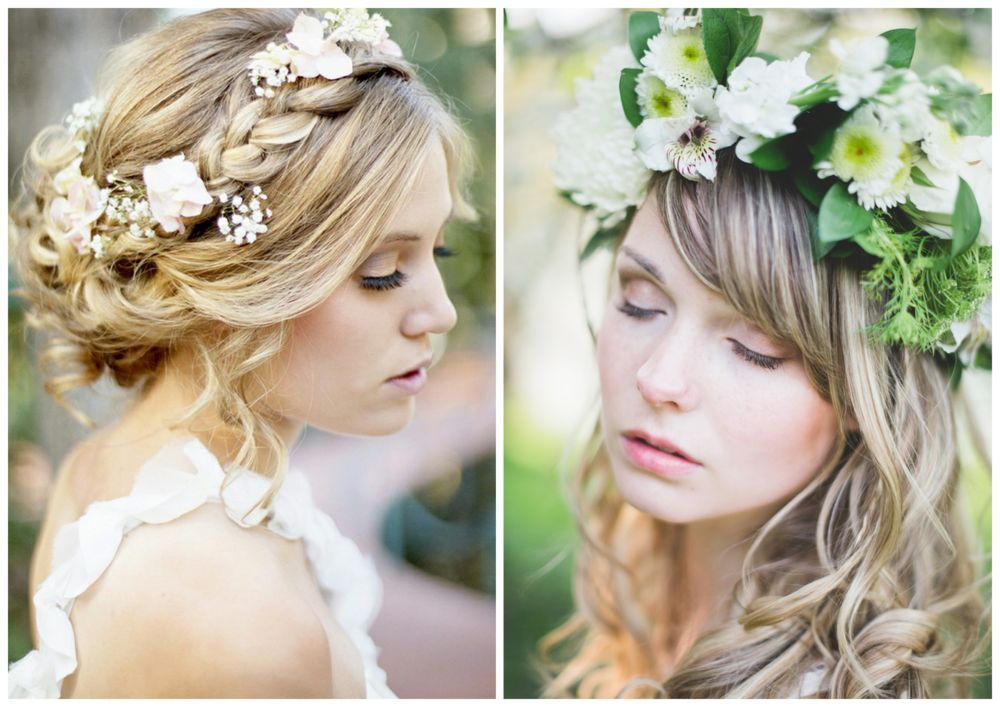 Kwiaty We Wlosach Wianek Zamiast Welonu Short Wedding Hair Boho Wedding Hair Trendy Wedding Hairstyles