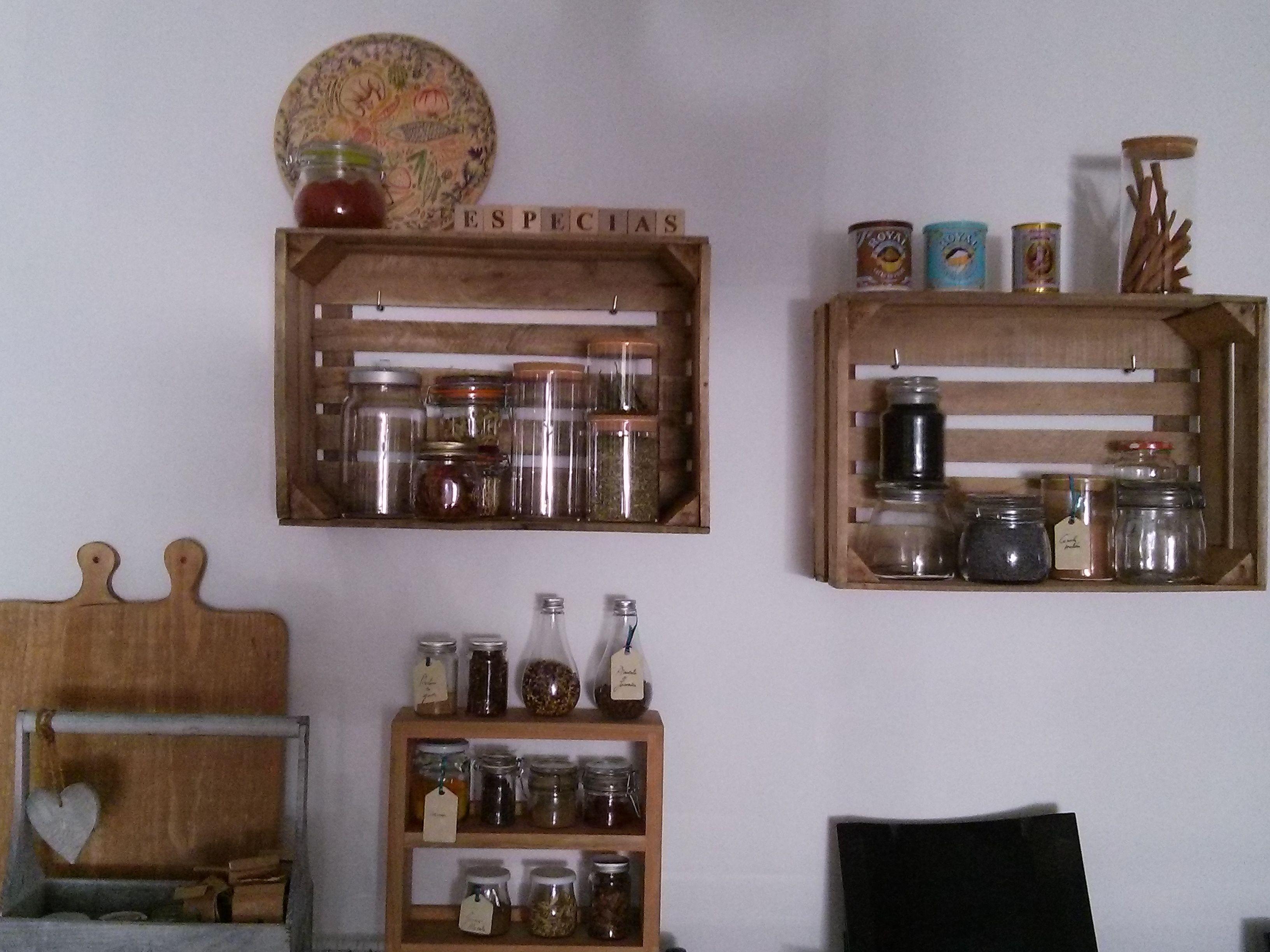 Boxes As Shelves Diy Home Pinterest Cocinas # Muebles De Cocina Hazlo Tu Mismo