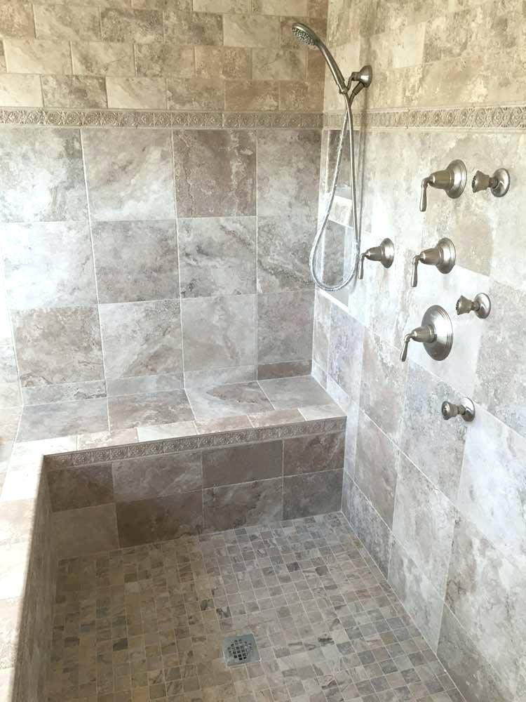 Shower Shower Pan With Bench Installation Tiled Walk In Shower
