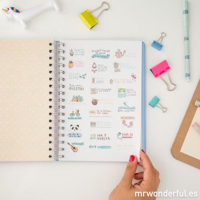Agenda 2017 Semana vista -Días geniales, ideas brillantes y un montón de cosas por hacer
