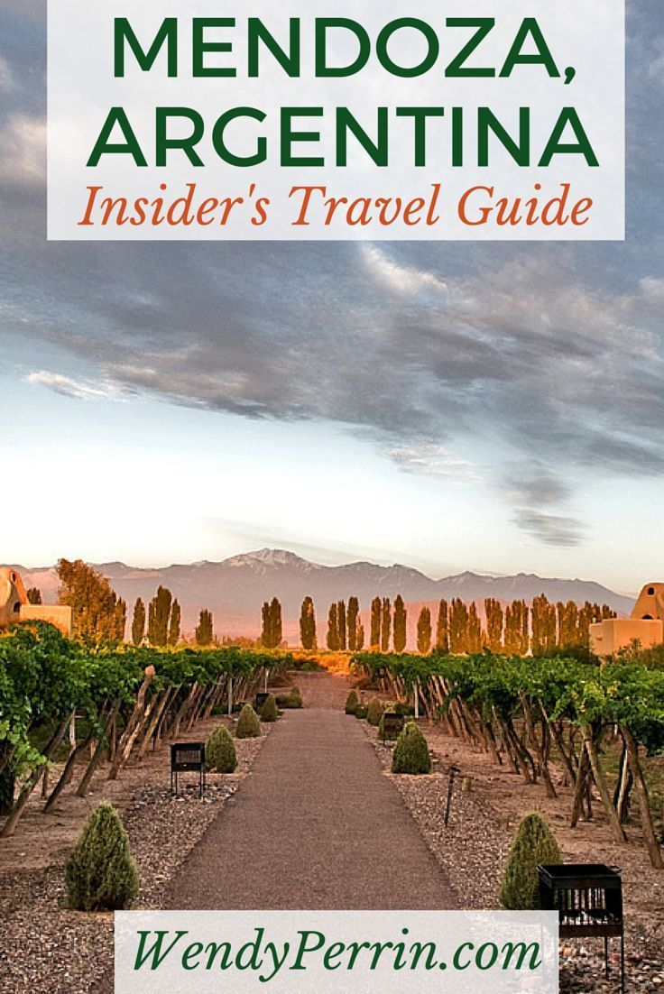 Argentina travel guide map of mendoza city.