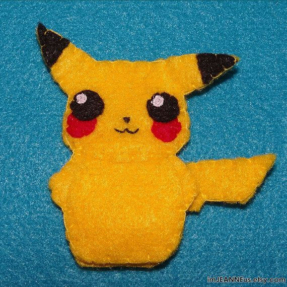 pikachu from pokemon inspired finger puppet ready to ship you