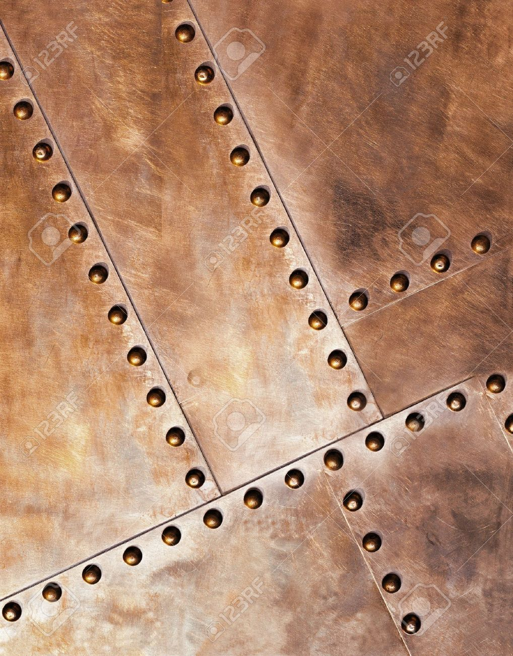 Structure of old metal with rivets Stock photos, Metal