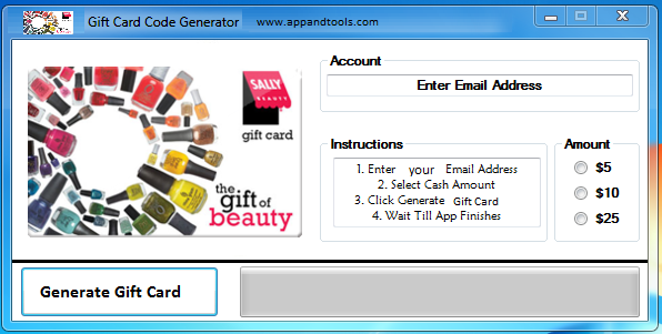 Sally Beauty Supply Gift Card Generator 2020 Working Working Tools