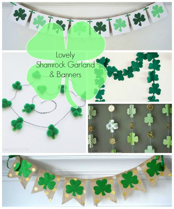 9f47fa7e5 10 {Lovely} Shamrock Banners & Garlands   St Patrick's Day Ideas ...