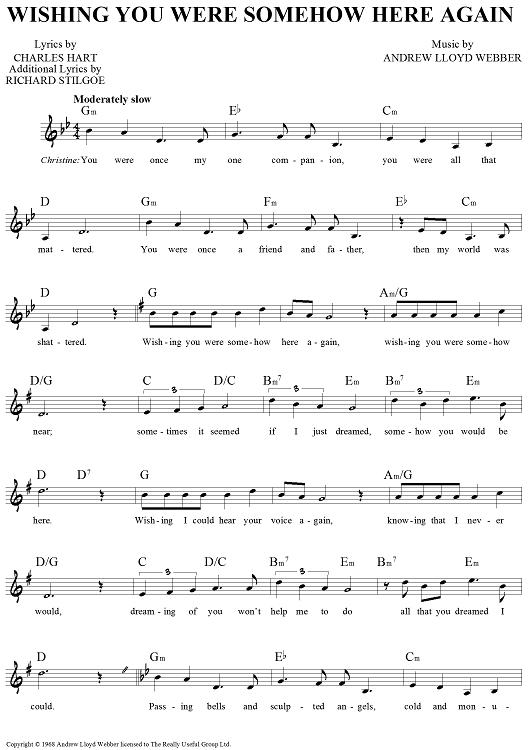 Wishing You Were Somehow Here Again Violin Sheet Music Clarinet Music Sheet Music