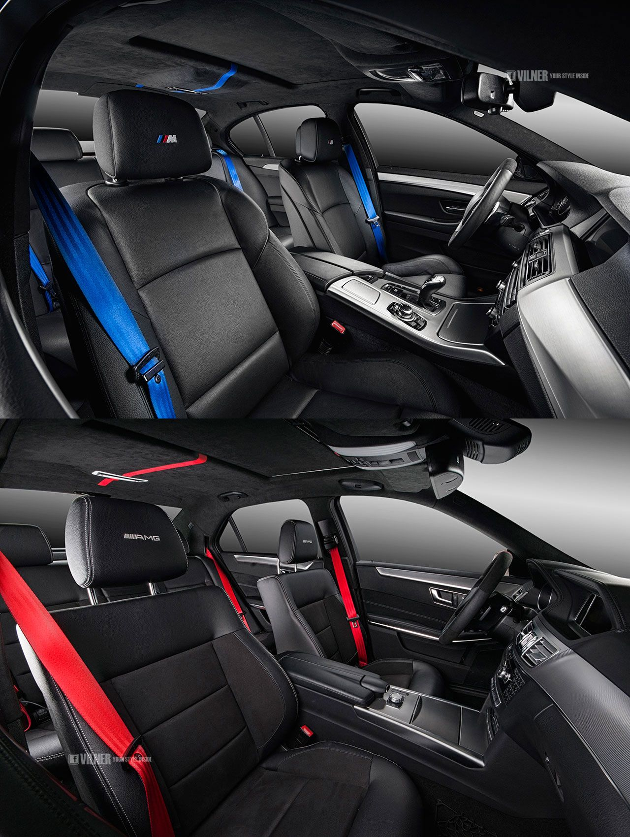 M Performance Amg Logo Embrodiery For The Seats