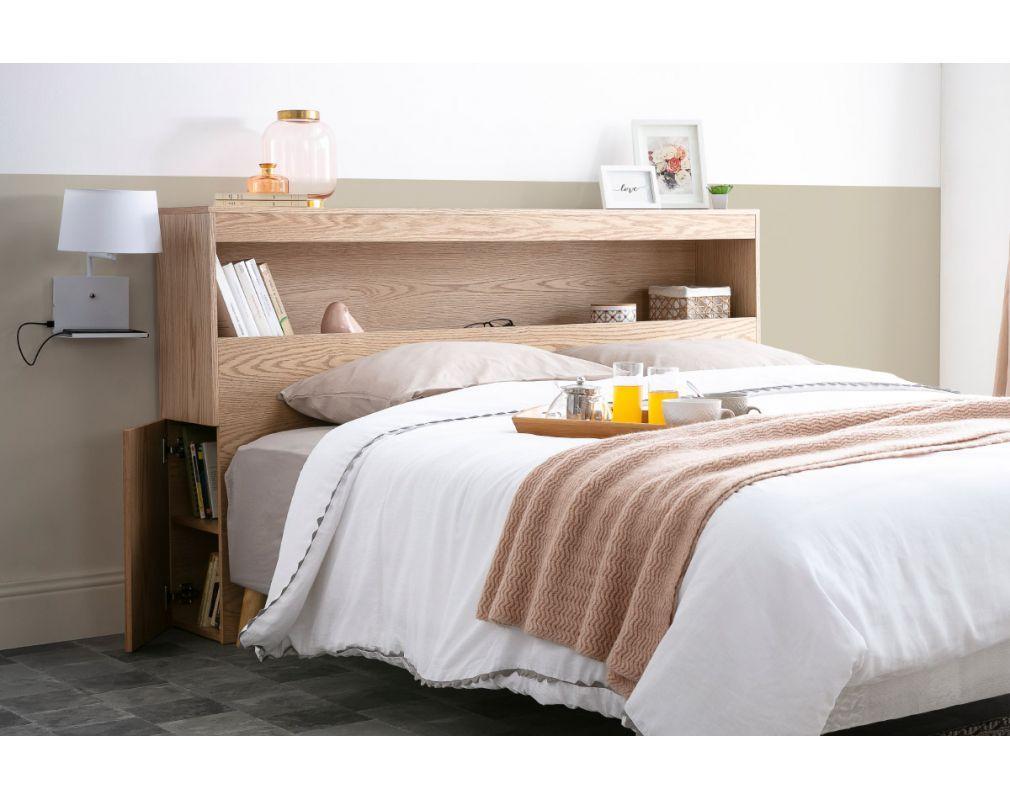 tete de lit avec rangements blanche 160
