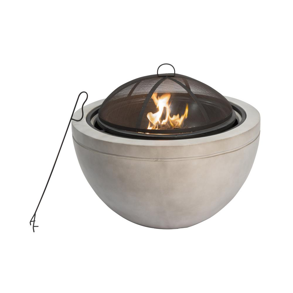 Peaktop 30 In X 22 83 In Round Wood Burning Outdoor Concrete Fire Pit Hr30180aa The Home Depot In 2020 Wood Burning Fire Pit Outdoor Fire Pit Fire Pit Wayfair