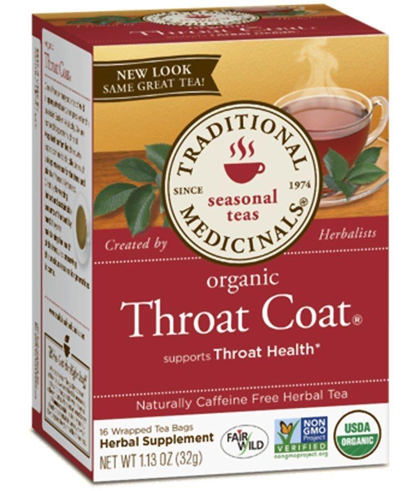 Traditional Medicinals Organic Throat Coat Tea 16 Ct Tea For Digestion Sore Throat Remedies Reflux Recipes