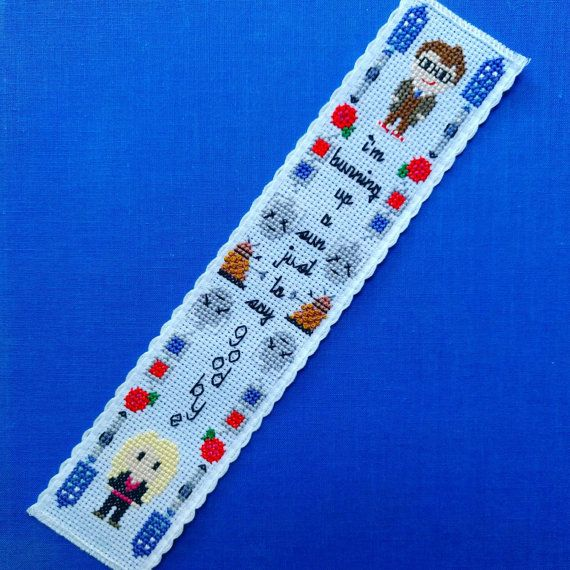 Allons-y! This cross stitch pattern will help you stitch your favorite Time Lord and his ultimate companion, Rose Tyler. The pattern includes cross-stitched versions the TARDIS, the sonic screwdriver, roses, red/blue anaglyphic 3D glasses, the cybermen, the daleks, the tenth Doctor, Rose Tyler, and a quote from the series.   Pattern includes: - a PDF pattern, black and white symbols with DMC colors chart - a PDF pattern, symbols and colors with DMC colors chart   DETAILS - 15 DMC colors ...