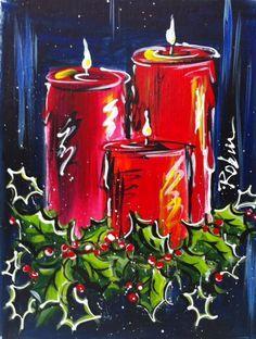 Christmas Canvas Idea                                                                                                                                                                                 Más