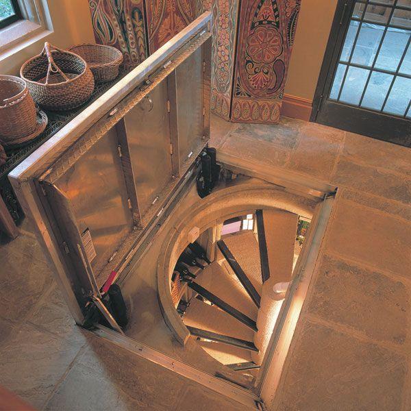 Exciting Underground Wine Cellar With Spiral Stair