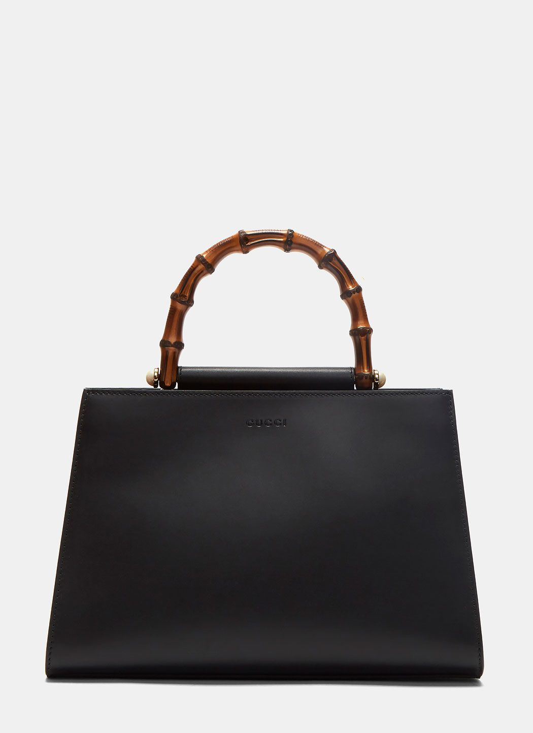 1136c3cdd46 GUCCI Women S Angel Nymphaea Leather Top Handle Bag In Black.  gucci  bags  shoulder  bags  hand bags  suede  lining