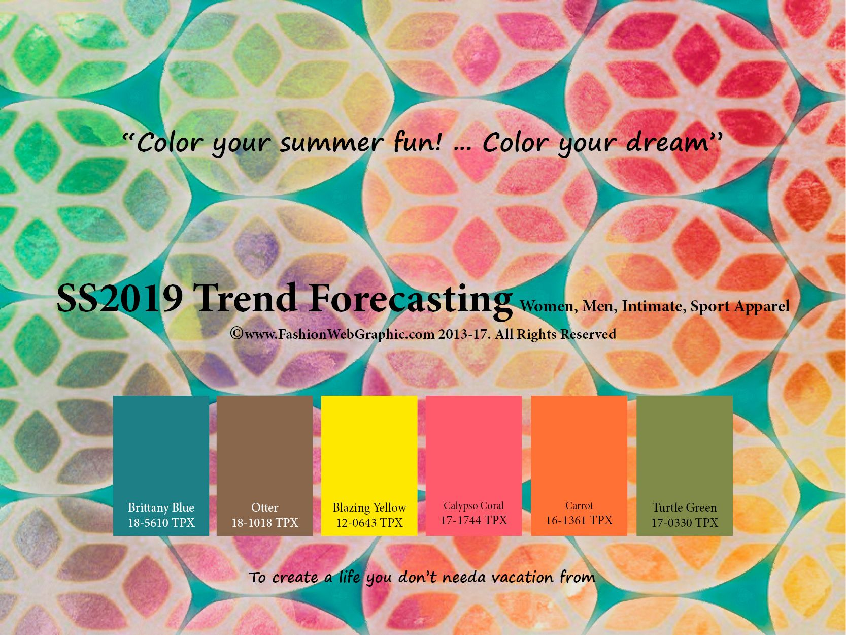 Spring Summer 2019 trend forecasting is A TREND/COLOR ...