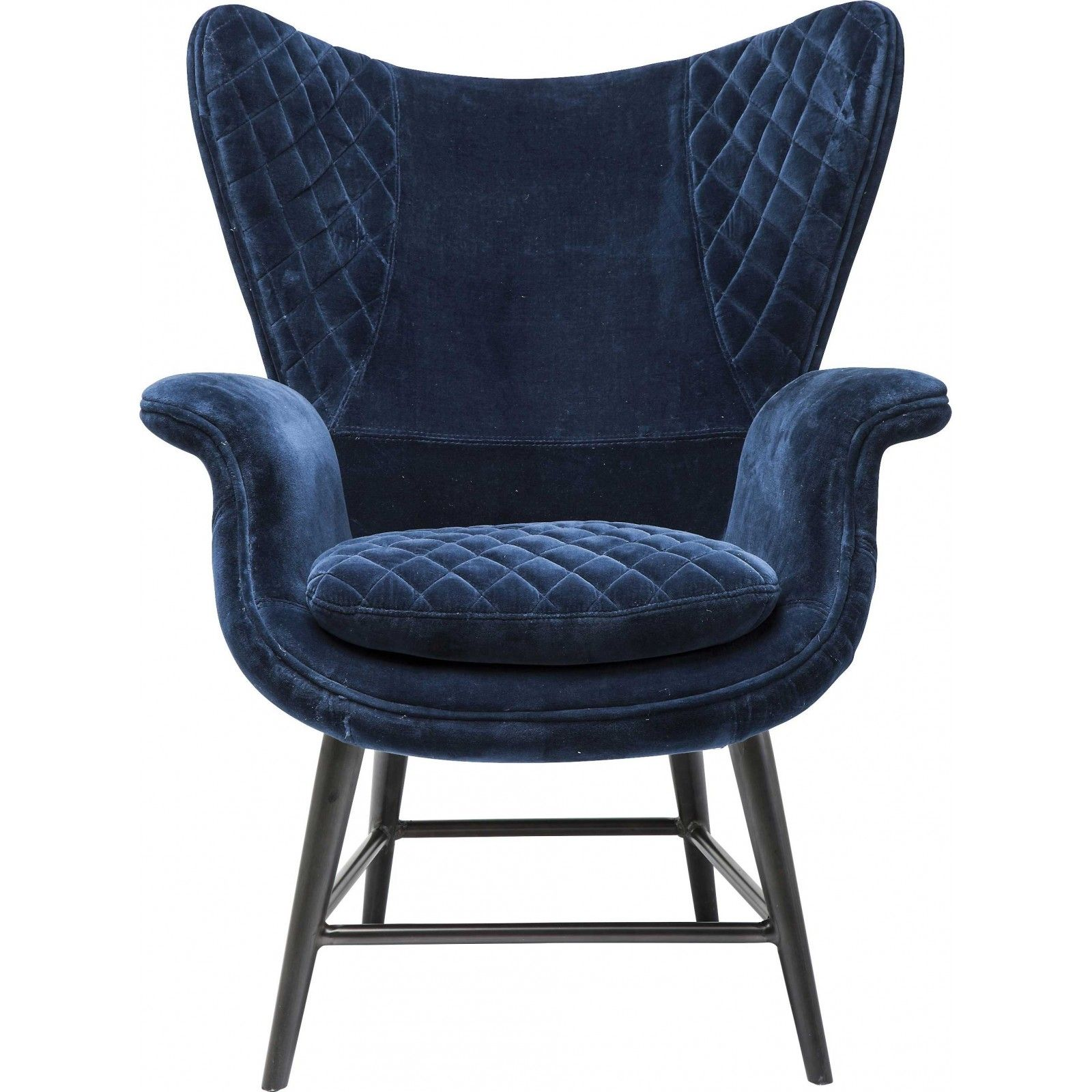 fauteuil tudor velours bleu kare design house. Black Bedroom Furniture Sets. Home Design Ideas