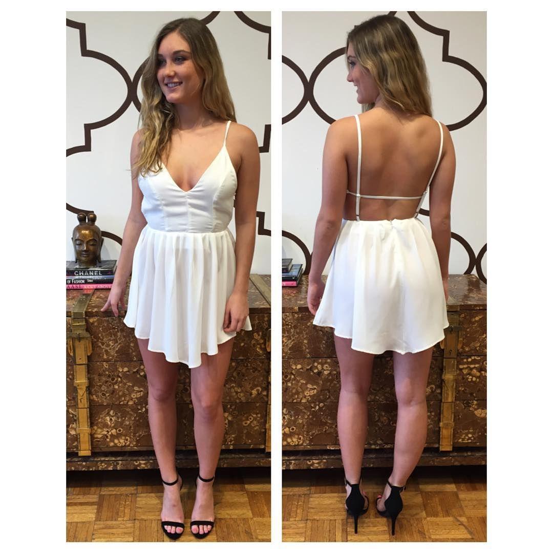 DRESS FOR LESS STRAPPY BACK DRESS WHITE www.splashtribe.com