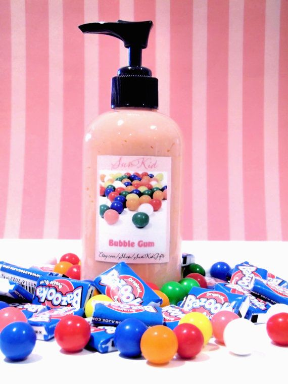 Bubble Gum Olive Oil Lotion 8oz Organic By Sunkidgifts On Etsy