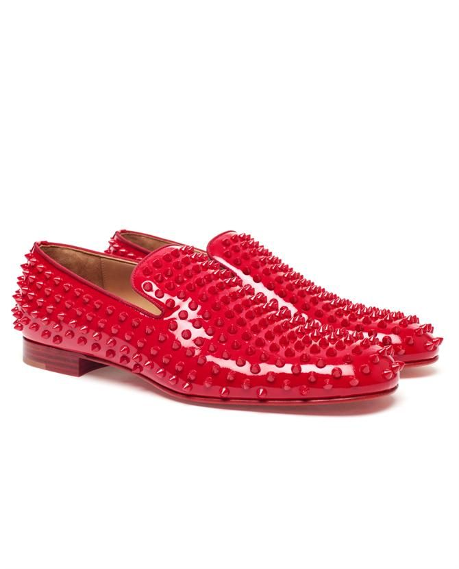 eb78faa82bd  Rollerboys  Spiked Patent Leather Loafers by CHRISTIAN LOUBOUTIN at Browns  Fashion.