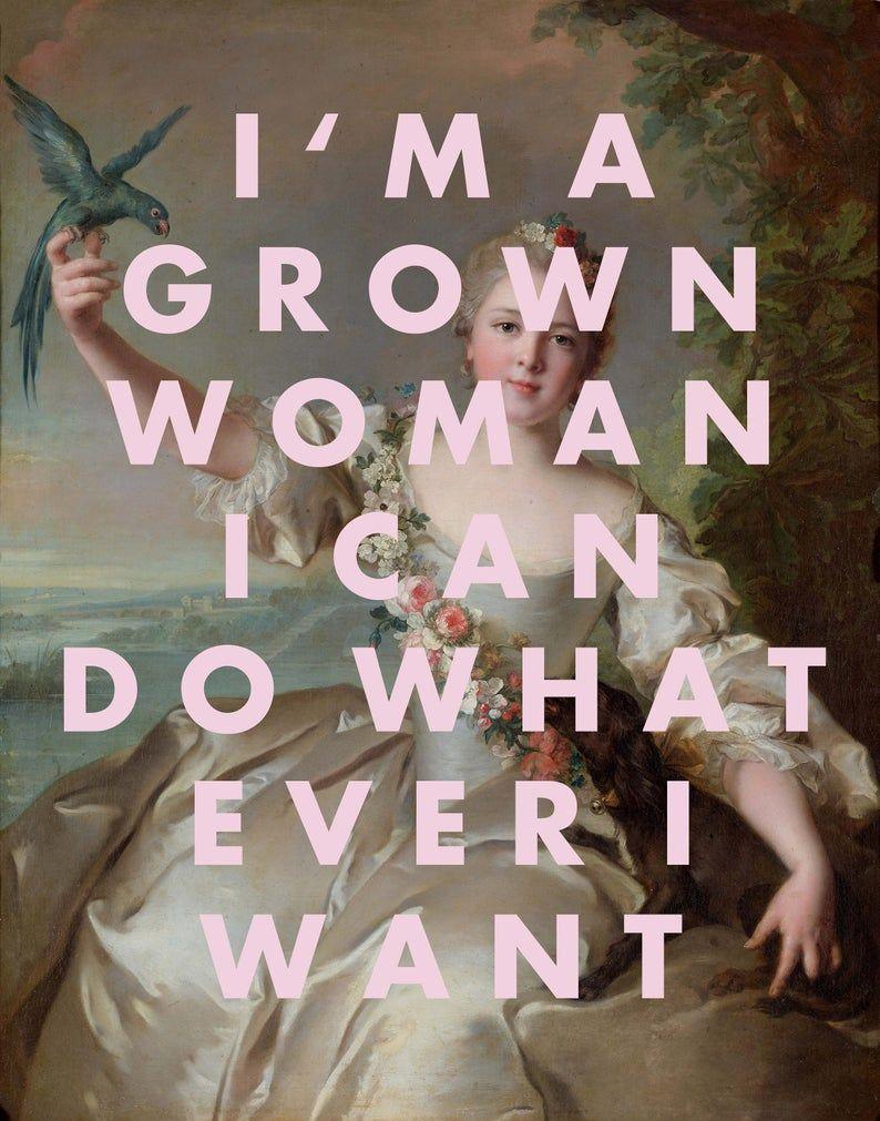 FEMINIST Print, Art Print, Girl Gift, Song Lyrics, Girl Gift, Living Room Decor, Friend Gift, Pink W