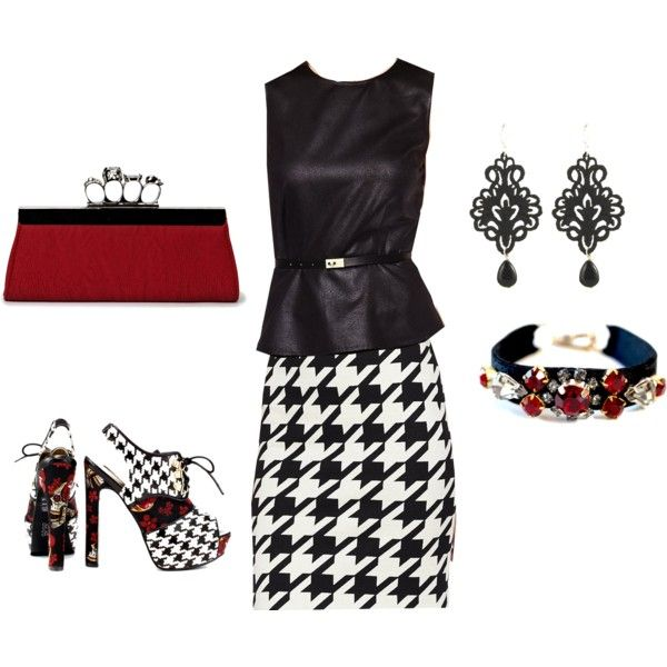Houndstooth & IF Fox Trot by jessica-shoelover on Polyvore #styleitfab