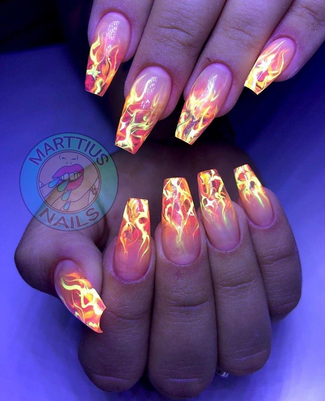 Pin By Aaliyah Pimentel On Nails In 2020 Glow Nails Blush Nails Long Acrylic Nails