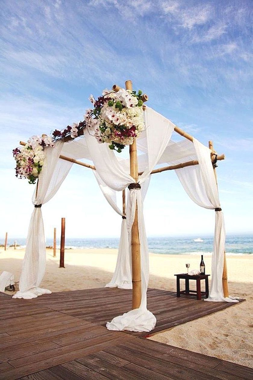 Some Ideas For Beach Wedding Design In 2020 Beach Wedding Arch Wedding Beach Ceremony Beach Wedding Decorations