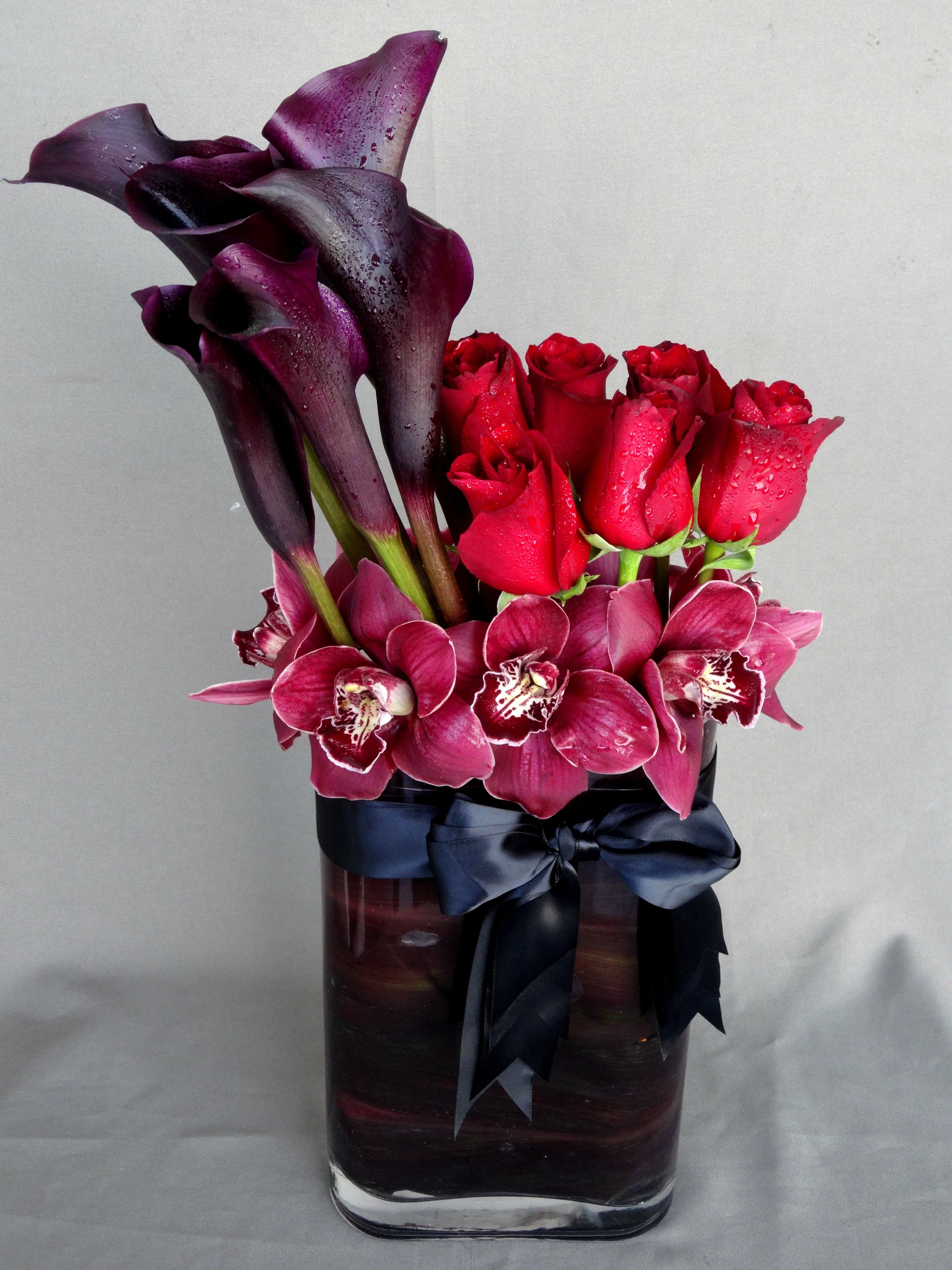 Send the calla lilies roses and orchids bouquet of flowers from send the calla lilies roses and orchids bouquet of flowers from floral design by daves flowers in los angeles ca local fresh flower delivery directly izmirmasajfo