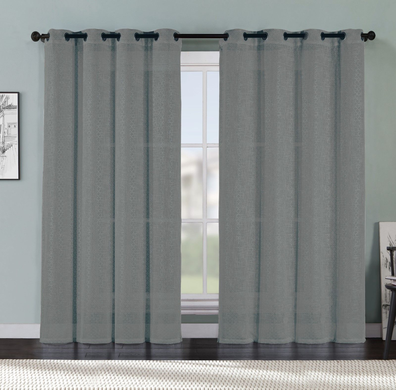 sage in warm green window with top faux sizes linen products home pair grommets of curtains grommet full designs sheer