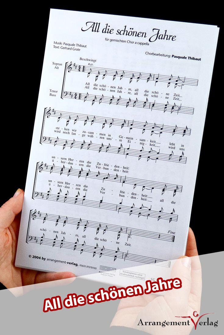 All die schönen Jahre für gemischten Chor ✓ Ein stimmungsvoller Titel. ♬ K… – Arrangement-Verlag