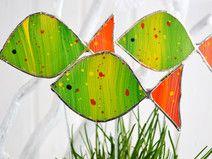 Blumenstecker Fisch aus Glas  tel bebek  Pinterest