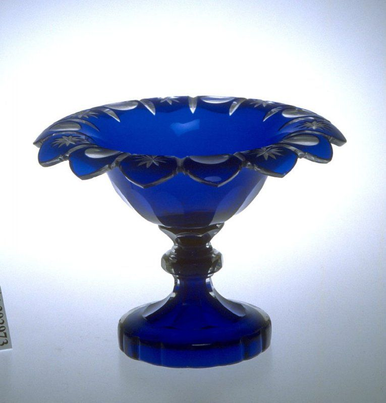Compote cobalt blue decor blue glassware colored