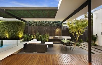 Quinchos minimalistas backyard villas and patios for Patios minimalistas