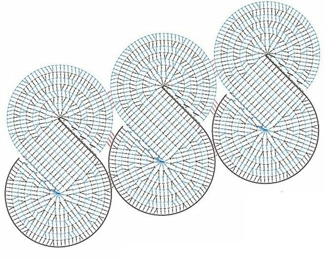 spiral crochet | Patrones Crochet: Chal Tejido en Espirales ...