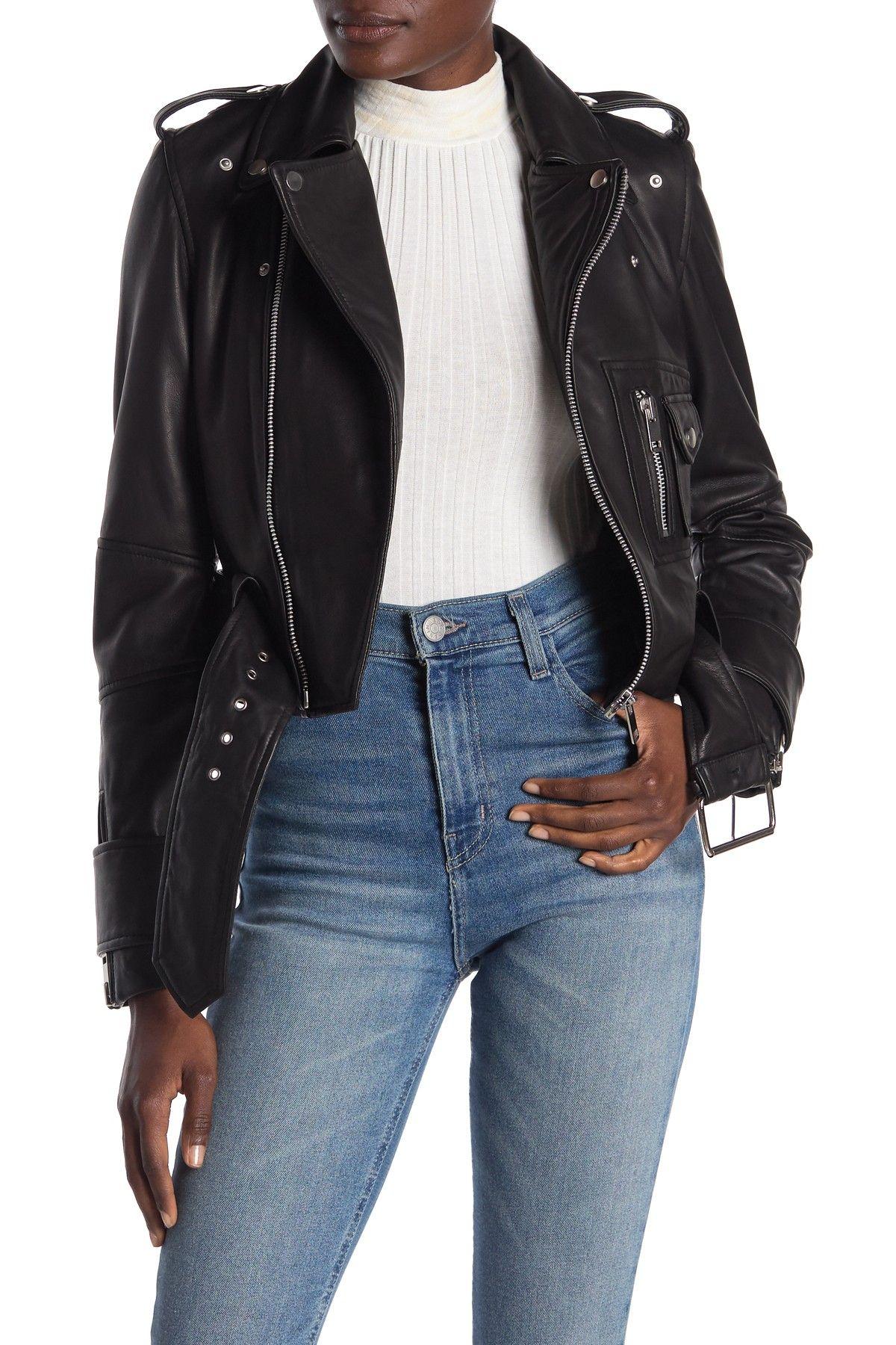 Walter Baker Annie Leather Moto Jacket HauteLook in