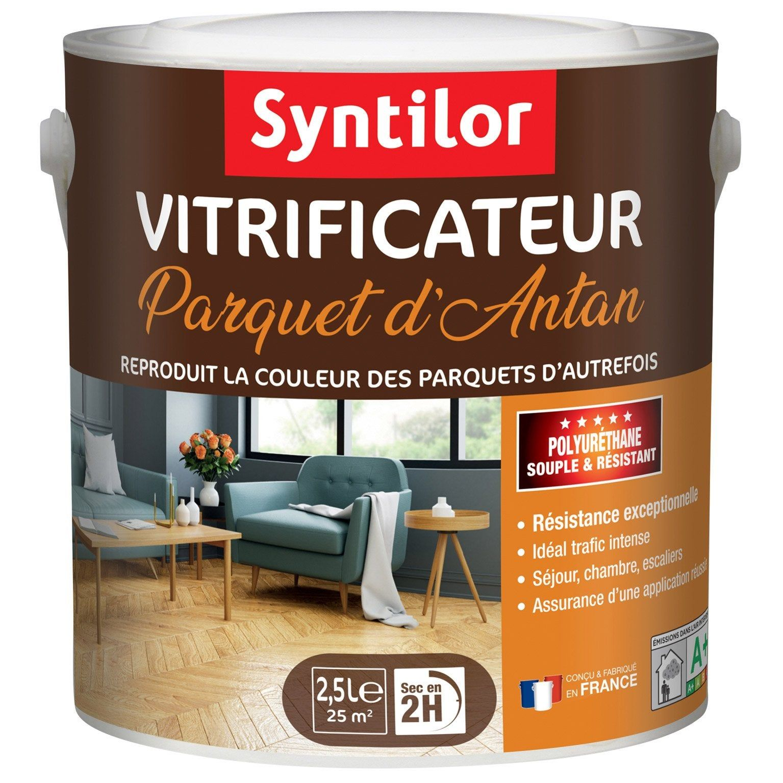 Vitrificateur Parquet D Antan Satin Syntilor 2 5 L Incolore Revetement De Sol En Bois Satin Et Castorama