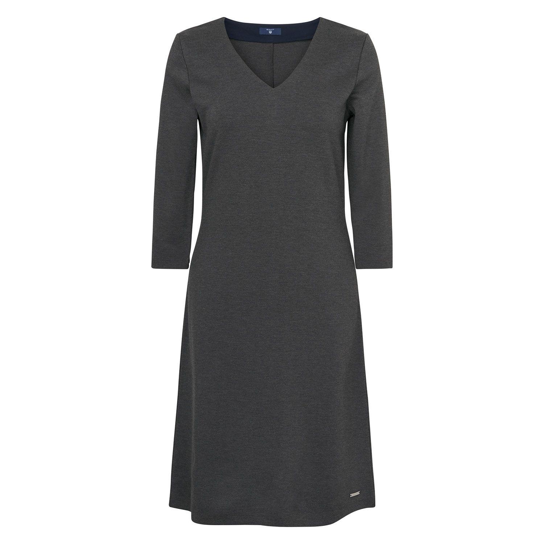 GANT Damen Jersey-Kleid mit V-Ausschnitt (XS) Grau Jetzt bestellen ...