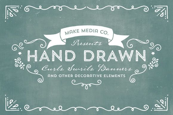 Hand Drawn Curls & Banners Vol. 1 by MakeMediaCo. on Creative Market