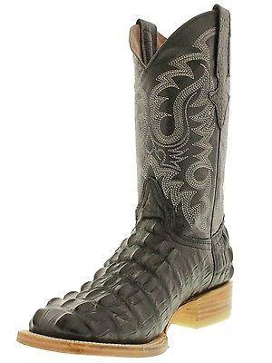 4aa7dc21658 Details about Men's Black Crocodile Alligator Tail Rodeo Work Cowboy ...