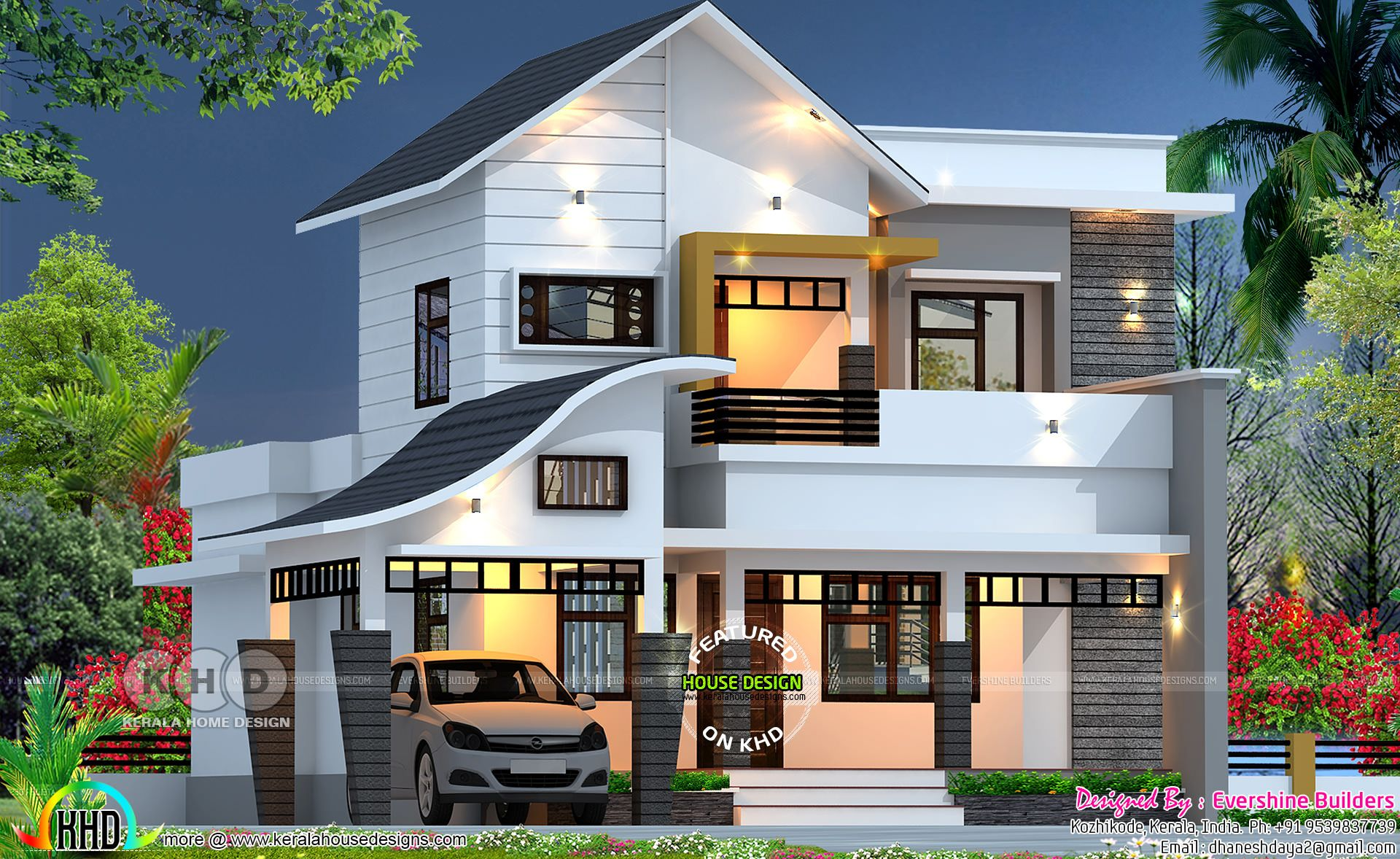 2400 Sq Ft Contemporary Box Type House House Blueprints Minecraft Modern Home Morden House