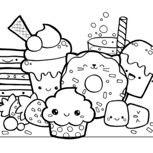 Cute Coloring Pages Kawaii Food Doodle Page Ladonna Hutchins Pleasing Kids Doodle Coloring Cute Doodle Art Cartoon Coloring Pages