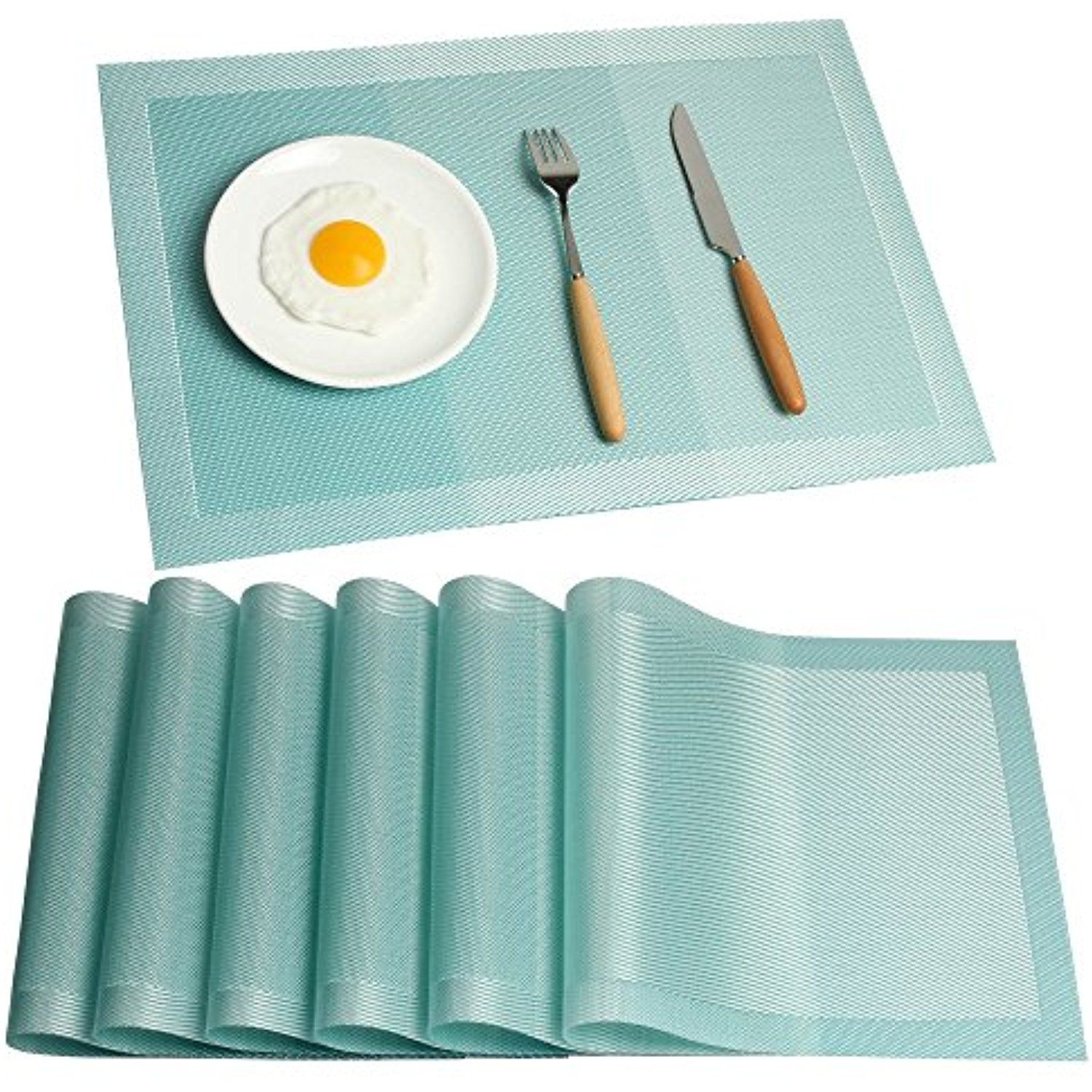 Placemats Ivalue Washable Fabric Placemats Set of