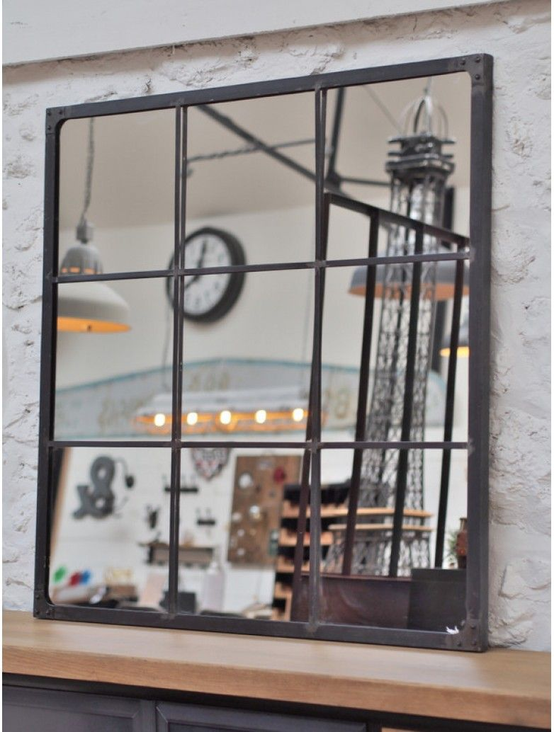 Miroir industriel riveté 120x120