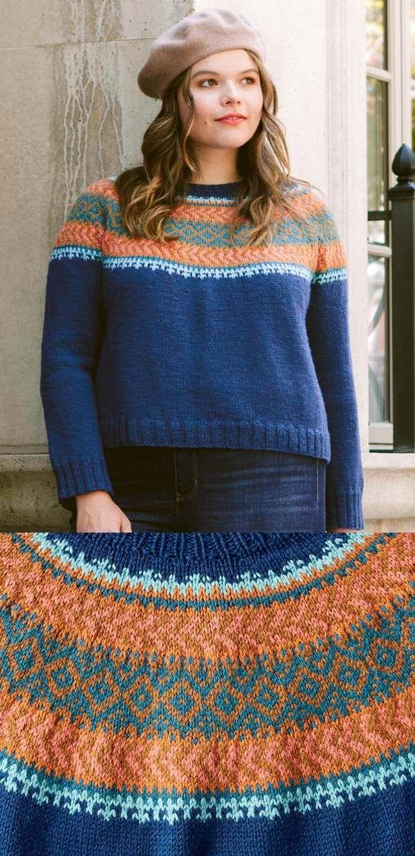 Free Knitting Pattern for a Patons Cumberland Knit Yoke ...