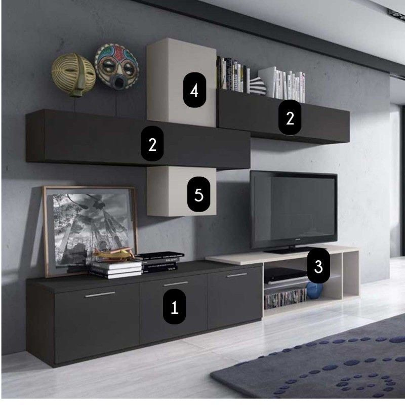 Meuble mural tv design cam lia led atylia atylia la redoute mobile id e ha salon in 2019 - Meuble tv mural ikea ...