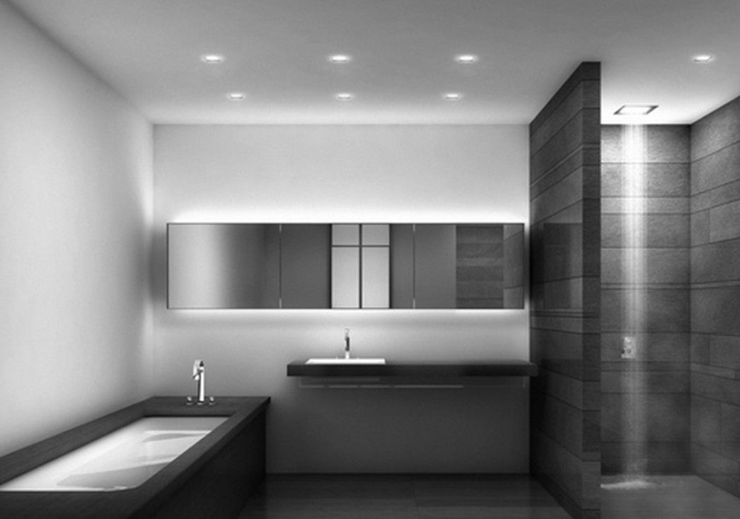Contemporary small bathroom