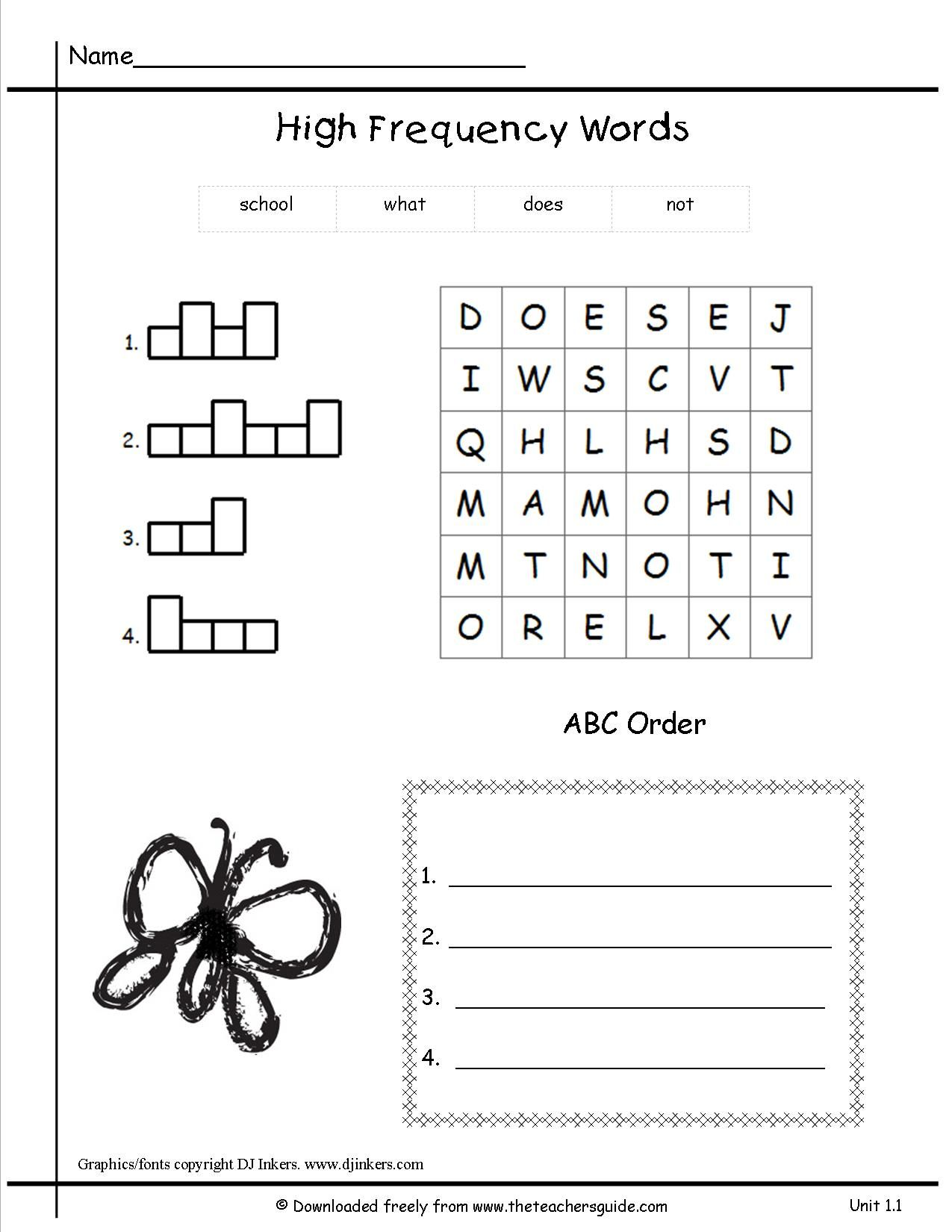 These worksheets would be good and they're free!